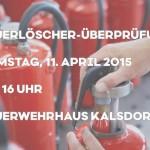 Feuerlöscherüberprüfung für FF Homepage